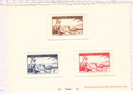 (*) FEZZAN - (*) - N°56/58, 59/61, 65/67 - 3 Epreuves De Luxe - TB - Fezzan (1943-1951)