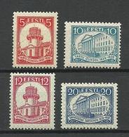 Estland Estonia 1932 Michel 94 - 97 MNH/MH (Mi 97 Is MH/*, All Others Are MNH/**) - Estonie