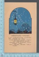 CPA - Christmas Greetings,Lanterne La Nuit,  Lantern At Night, Covert Brattleboro V.T.  1924   On A USA Stamp - Noël