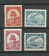 Estland Estonia 1932 Michel 94 - 97 MNH/MH - Estonia