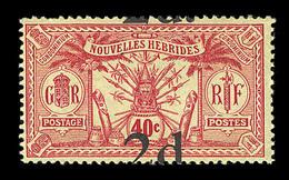 * NOUVELLES HEBRIDES  - * - N°69 - Sans Filigrane + Surch. Décalée - TB - Par EDITEURS