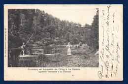 Chiny. Excursion En Barquettede Chiny à La Cuisine. Agréable Rencontre à La Gofluet. Ca 1900 - Chiny