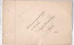 """JOSEFINA CANO DE PIAZZINI, """"NEGRITA"""" SINGER AUTOGRAPH. YEAR 1953 SIZE 23x14cm- BLEUP - Autographs"""