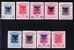 ** ALBANIE - ** - N°97/105 - B/TB - Albanie