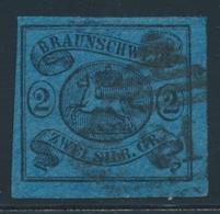 O BRUNSWICK - O - N°8 - 2s. Noir S/bleu - TB - Brunswick