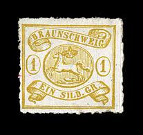 * BRUNSWICK - * - N°11 - 1s Jaune - Percé En Scie - TB - Brunswick