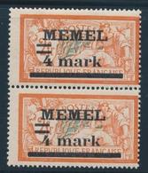 **/* MEMEL - **/* - N°31a - Paire - Dt Type I Et II Se Tenant - Signé A. Brun - TB - Klaipeda