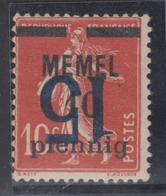 * MEMEL - * - N°38a - Surcharge Renversée - TB - Klaipeda