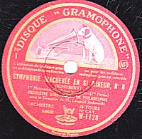 78 Trs 30 Cm état TB 2 Disques SYMPHONIE INACHEVEE EN SI MINEUR N°8 (SCHUBERT) ORCHESTRE SYMPHONIQUE DE PHILADELPHIE - 78 T - Disques Pour Gramophone