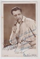 ANGELO FERRARI ITALIAN ACTOR. AUTOGRAPHE. YEAR 1929 SIZE 9x14cm- BLEUP - Autographs