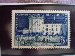 """1950-1959-timbre Oblitéré N°  995   """" Villandry    """"     Cote   5    Net        1.65 - France"""