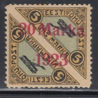 * ESTONIE - * - PA N°5a - Dentelé 11½ - Rousseurs - Signé Calves - Estonie
