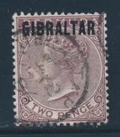 O GIBRALTAR - O - N°3 - 2p. Violet Brun - TB - Gibraltar