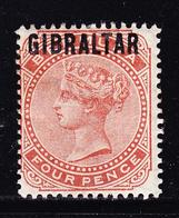* GIBRALTAR - * - N°5 - 4p Brun Orange - TB - Gibraltar