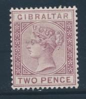 * GIBRALTAR - * - N°10 - 2p. Brun Lilas - TB - Gibraltar