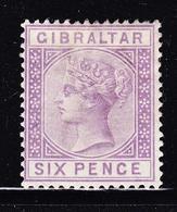 * GIBRALTAR - * - N°13 - 6p. Violet - TB - Gibraltar