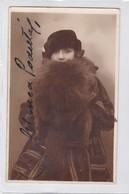 BLANCA PODESTA, ACTRIZ Y PRODUCTORA ARGENTINA. AUTOGRAPHE. YEAR 1929 SIZE 9x14cm- BLEUP - Autographs