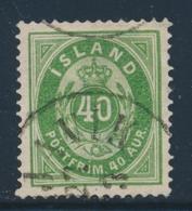 O ISLANDE - O - N°11 - 40a Vert - TB - Islande