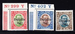 ** ISLANDE - ** - PA N°9/11 - Zeppelin - Petites Marques S/gomme Au 11 - Islande