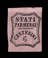 * ETATS ITALIENS - PARME - * - N°1 - 6c Noir S/rose - TB - Parma