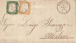 L ETATS ITALIENS - SARDAIGNE - L - N°13Da, 14De - Obl Genova - 11/1/63 - Pr Milano - TB/SUP - Sardinia