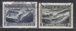 O LIECHTENSTEIN - POSTE AERIENNE  - O - N°7/8 - Zeppelin - TB - Poste Aérienne