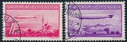 O LIECHTENSTEIN - POSTE AERIENNE  - O - N°15/16 - Zeppelin - TB - Poste Aérienne