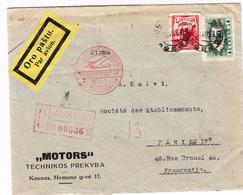 L LITUANIE  - L - Pli De KAUNAS - En Rec - 20/7/33 - S/env. Rec Commerciale - Via Berlin - Pr Paris - TB - Lituanie
