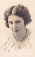 OLGA CACERES PEARSON AUTOGRAPHE. YEAR 1930 SIZE 9x14cm- BLEUP - Autographs