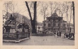 BILBAO, JARDINES DE ALBIA ,ESTATUA DEL POETA TRUEBA, CARTE ANIMEE, 2 SCANS , ENFANTS, KINDEREN, A60E - Vizcaya (Bilbao)