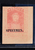"* HAWAÏ - * - N°6 - 13c Rouge - Surch ""Specimen"" - CDF - Signé TB - Hawaii"
