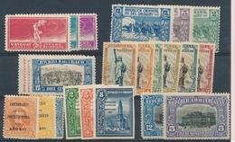 * URUGUAY - * - N°281/83, 298/302, 307/09 - B/TB - Uruguay