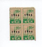NEN, Nouvelles Epiceries Du Nord: Quatre Points De 1 Nouveau Centime De 1966 (18-3579) - Autres Collections