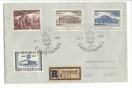 20971 - Christkindl 1955 Cachet  05.01.1956 Lettre Recommandée Pour Vevey - Weihnachten