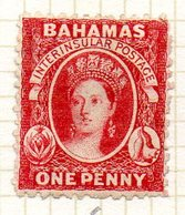 AMERIQUE CENTRALE - BAHAMAS - (Colonie Britannique) - 1863 - N° 5 - 1 P. Carmin - (Effigie De La Reine Victoria) - Central America