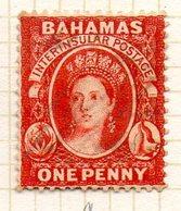 AMERIQUE CENTRALE - BAHAMAS - (Colonie Britannique) - 1875 - N° 9 - 1 P. Vermillon - (Effigie De La Reine Victoria) - Amérique Centrale