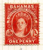 AMERIQUE CENTRALE - BAHAMAS - (Colonie Britannique) - 1875 - N° 9 - 1 P. Vermillon - (Effigie De La Reine Victoria) - Central America