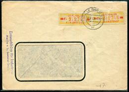 ALLEMAGNE ORIENTALE - SERVICE N° 54 (2) DÉFECTUEUX SUR LETTRE DE HALLE LE 24/7/1958 POUR WURZEN - B - Service