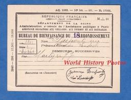 Carte Ancienne De Dispensaire - PARIS - Bureau De Bienfaisance Du 18e Arrondissement - Dupont Rue Martyrs - Historical Documents