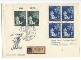 20973 - Christkindl 1954  Lettre Recommandée Pour Mollis Christkindl 06.01.1955 + Cachet Mollis 08.01.1955 - Noël