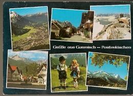 Germany &  Circulated, Greetings From Garmisch-Partenkirchen, Roeselare Belgium  1988 (13974) - Souvenir De...