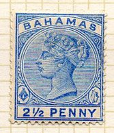 AMERIQUE CENTRALE - BAHAMAS - (Colonie Britannique) - 1884-90 - N° 19 - 2 1/2 P. Outremer - (Victoria) - Central America
