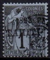 TAHITI - 1  C. De 1893 Oblitéré Avec Surcharge FAUSSE - Tahiti
