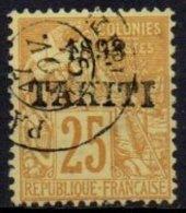 TAHITI - 25  C. De 1893 Oblitéré Avec Surcharge FAUSSE - Tahiti