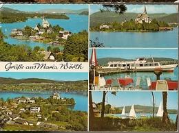 Austria &  Circulated, Ferien Und Wallfahrtsort Maria Wörth Am Wörthersee  Kärnten  Mehrbildkar, Schiedlberg 1977 (8660) - Souvenir De...