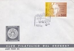 MARGARITA XIRGU. LA CASA DE BERNARDA ALBA. FDC 1991. URUGUAY- BLEUP - Uruguay