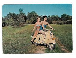 Pin Ups 2 Girl In Vespa Motorbike - Pin-Ups