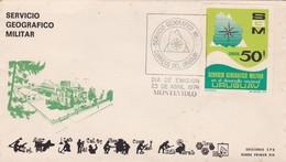 SERVICIO GEOGRAFICO MILITAR. FDC 1974, MONTEVIDEO. URUGUAY- BLEUP - Uruguay