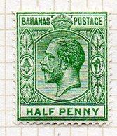 AMERIQUE CENTRALE - BAHAMAS - (Colonie Britannique) - 1912-19 - N° 43 - 1/2 P. Vert - (George V) - Central America