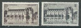 France YT N°610/611 Château De Chenonceaux Neuf ** - France